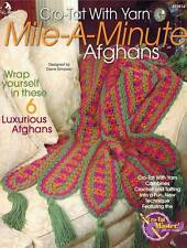 Cro-Tat with Yarn Mile-A-Minute Afghans PATTERN Crochet Tatting Blanket Throw