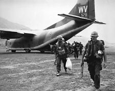 """Marines airlifted by a Fairchild C-123K Provider 8""""x 10"""" Vietnam War Photo 167"""