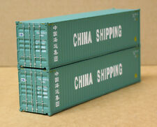 2 Walthers #8256, UPGRADED HO 40' corrugated Containers, China Shipping