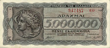 Griechenland / Greece 5.000.000 Drachmen 1944 P.128 (3)