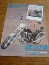 RARE IZH 6.113.05 CHOPPER RUSSIAN MOTORCYCLE BROCHURE jm