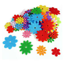 Buddly Crafts Felt Shapes - 100pcs Flowers #F1