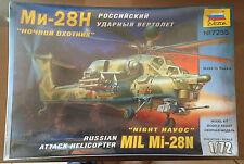 """ZVEZDA 7255 - 1/72 MIL Mi-28N """"NIGHT HAVOC"""" - NUOVO"""