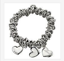 Señoras MUJERES Fiorelli Crystal Candy pulsera con dijes Corazón Regalo San Valentín plata