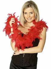 Red Black White Feather Boa 20s 30 Flapper Burlesque Hen Night Party Feather Boa