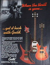 1982 Guild X-79, S-275, SB-202 electric and bass guitars print Ad