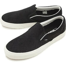Vans Classic Slip On (Braided Suede) Black Women's Sk8 Size 7