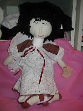 Primitive Folk Art Doll ~Americana~ Angel Rag Doll with Wings Baby Handcrafted