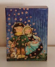 Deichert Ballerina Original Music Box Children Raining Hearts Ferrandiz Germany
