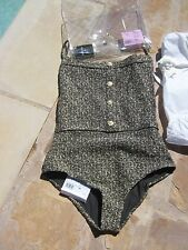 NWT authentic CHANEL one-piece tweed swimsuit F40 2016 collection- gorgeous!