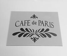 A4 plantilla Cafe de Paris, Shabby Chic, muebles, Tela, up-Ciclismo, Vidrio, Craft