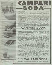 J0259 CAMPARI SODA - Nostra nuova creazione - Pubblicità del 1932 - Old advert