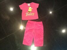 Juicy Couture New & Gen. Baby Girls Pink 2 Piece Set Age 6/12 MTHS With Logo