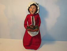 Byers Choice 2004  Dickens Series Mrs. Cratchit with Plum Pudding