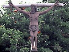 """*Postcard-""""Jesus Christ on a Cross"""" ...with Trees/Forest background-"""