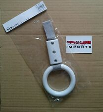 BRAiTH white circle Tsurikawa train/bus handle - JDM tow hook/interior hang ring