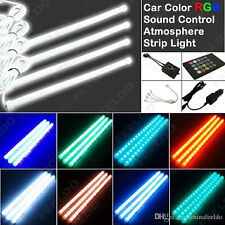7 Led Color Car Atmosphere Led Strip 4 Tubes Light RGB Music Control With Remote