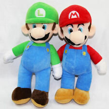 2PCS/Set Super Mario Plush Toys LUIGI & MARIO Doll Stuffed Animals Toy 10""