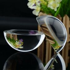 25mm Glass Crystal Paper Weight Clear Half Sphere Ball Magnifying Glass Lens
