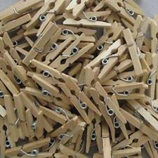50x Mini Wooden Natural Pegs Pack Of Small Favour Wedding Party Natural Clip Hot