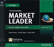 Pearson MARKET LEADER THIRD Ed PRE-INTERMEDIATE Business English AUDIO CD's @New