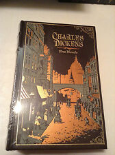 Five Novels by Charles Dickens - leather-bound - NEW - ships in a box