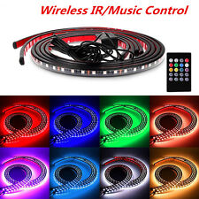 8 Colors RGB LED Strips Under Car Underbody Music Control Neon Light Kit+ Remote