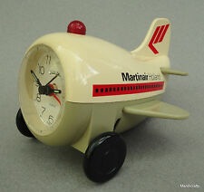 Alarm Clock Airplane Martinair Holland Logo Quartz AeroClock Lights 1970s Ad Vtg