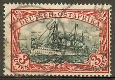 1901 German colonies EAST AFRICA  3 Rupien Yacht issue used BUKOBA  € 230.00