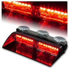 1Pc Red Police Strobe Flash Light Car 16 LED Dash Emergency Flashing Light DC12V