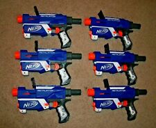 Nerf N-Strike Retaliator Lot 6 Party Pack Blaster Dart Gun Toy Blue Elite TESTED