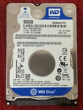 """WD Blue Slim 7mm OEM Laptop 500GB Internal 5400RPM WD5000LPCX 2.5"""" HDD"""