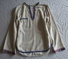 ISABEL MARANT IVORY EMBROIDERED DEMIE PEASANT BLOUSE TOP (BOHO HIPPIE!) ~ 38