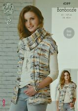 KNITTING PATTERN Ladies/Childrens Easy Knit Cable Waistcoat &Cowl Bamboozle 4389