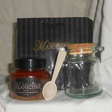 One Minute Manicure Sunset- Spa Treatment Hands Body Feet with glass jar & spoon