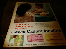 CADUM LANOLINE - PEAU DOUCE - Publicité de presse / Press advert !!! 1959 !!!