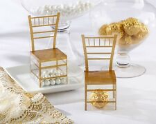 48 Gold Chiavari Chair Wedding Bridal Shower Favor Boxes Candy Box Q36384