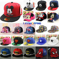 Baby Kids Children Superhero Hip Pop Baseball Cap Mickey Adjustable Snapback Hat