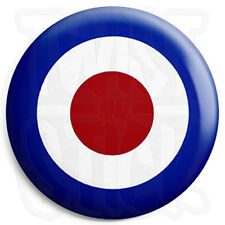 Mod RAF Roundel Target - 25mm Parka Lapel Scooter Button Pin Badge