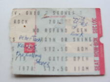 THE ROLLING STONES TICKET  1ST JULY 1978, CLEVELAND, OHIO, U.S.A.