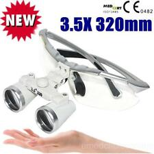 Silver Dental Surgical Medical Binocular Loupes 3.5X 320mm Loupe+warranty FDA CE