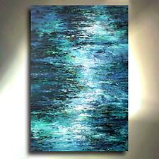 Mix Lang Abstract Painting ' Moonlight ' Contemporary original Art Decor cert.