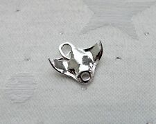 MANTA RAY FISH 3D SEA LIFE  CHARM 925 STERLING SILVER