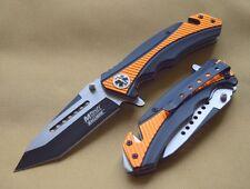 Couteau de Secours EMT Tac Force A/O Acier Inox Manche Alu Cutter/Brise MTA950OR
