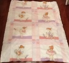Baby Ballerina Quilt Handmade Tied Daisy Kingdom Fabric 62x42 100% Cotton