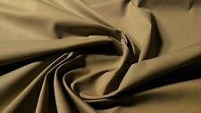 "KHAKI BEIGE CANVAS TWILL 8 OZ 60"" POLY COTTON FABRIC APPAREL UPHOLSTERY MILITARY"
