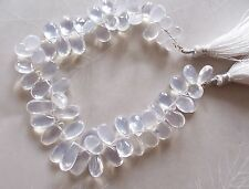 "8"" Strand AAA Ice Crystal Quartz Gemstone Smooth Drop Briolette Beads 7mm-15mm"