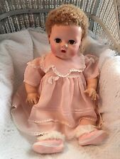 Vintage Antique Effanbee Dy-Dee-Baby Lou Drink & Wet Doll 20""