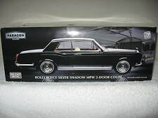 ROLLS ROYCE SILVER SHADOW MPW COUPE BLACK PARAGON 1:18 OPENING HOOD DOORS TRUNK