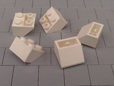 NEW LEGO BRICKS - 10 x WHITE 2x2 INVERTED SLOPE BRICK 45 3660 -